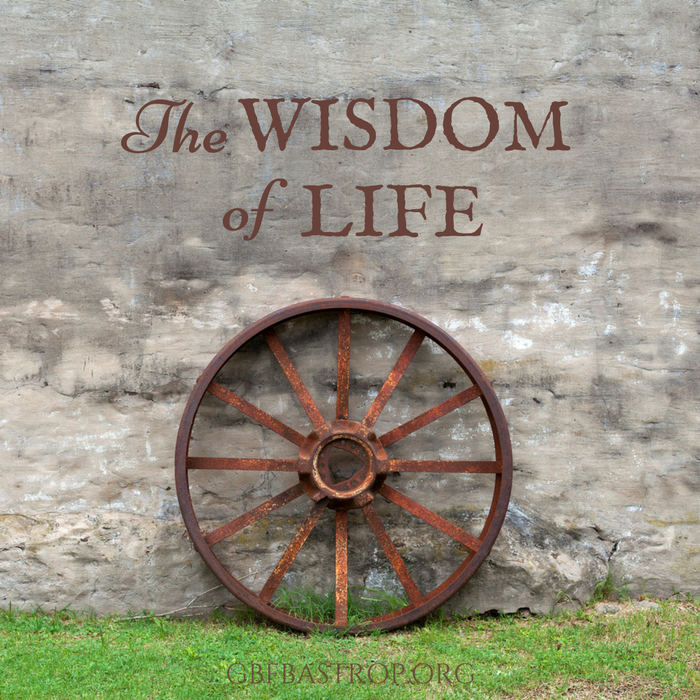 The Wisdom of Life — a sermon by Larry Schlotfeldt at Grace Bible Fellowship, Bastrop TX